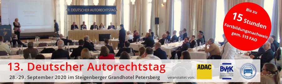 13. Deutscher Autorechtstag 28. - 29. Septemeber 2020