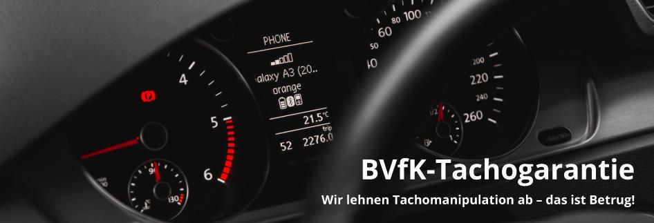 BVfK-Tachogarantie, Tachomanipulation, Kilometerstand, Betrug,